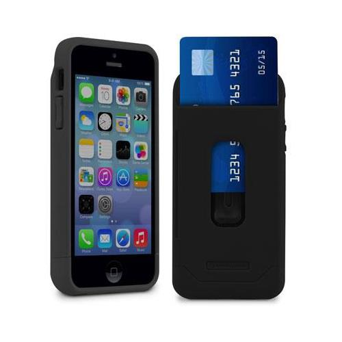 MarBlue Stash Case for iPhone 5 / 5S Wallet Case - Black