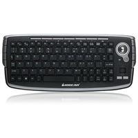 Iogear 2.4GHz Wireless Compact Keyboard with Optical Trackball and Scroll Wheel - Refurbished