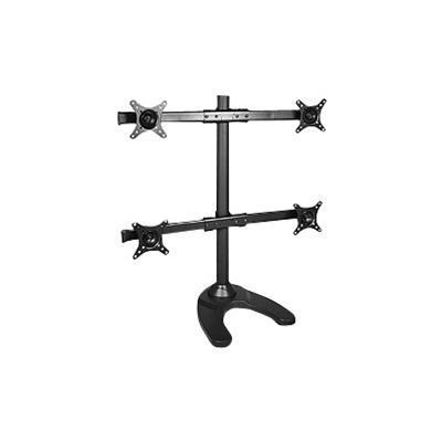 SIIG Quad Monitor Desk Stand - Mounting kit ( desk stand ) for 4 LCD displays - black - screen size: 13