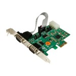 2 Port Industrial PCIe RS232 Serial Card w/ Power and ESD - Serial adapter - PCIe 2.0 - RS-232 x 2