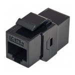 Inline Coupler Keystone Type - Keystone coupler - RJ-45 (F) to RJ-45 (F) - CAT 5e - black