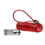 Portable Combination Laptop Lock - Security cable lock - red - 6 ft