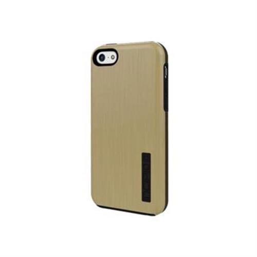 Incipio DualPro SHINE Dual Protection with Aluminum Finish Case for iPhone 5c - Gold / Gray
