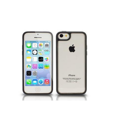 The Joy Factory Jamboree for iPhone 5C - Soft Bumper with Clear Back Case for iPhone 5C - Black
