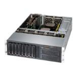 Supermicro SC835 BTQ-R1K28B - Rack-mountable - 3U - enhanced extended ATX - SATA/SAS - hot-swap 1280 Watt - black