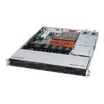 Supermicro SC815 TQ-R654CB - Rack-mountable - 1U - extended ATX - SATA/SAS - hot-swap 650 Watt - black