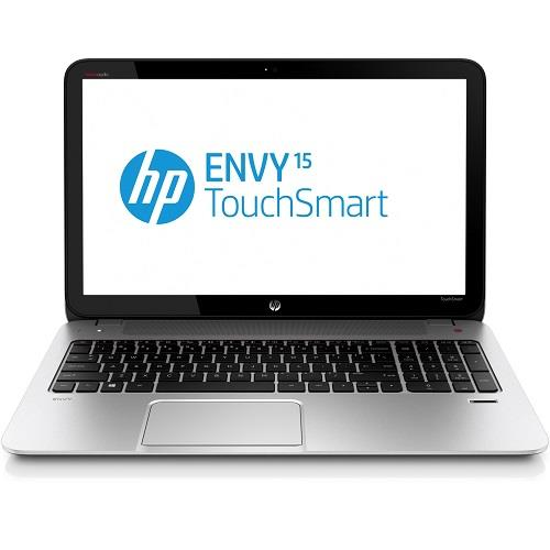 "HP ENVY TouchSmart 15-j009wm AMD Quad-Core A8-5550M 2.10GHz Notebook PC - 8GB RAM, 750GB HDD, 15.6"" HD LED Touchscreen, Gigabit Ethernet, 802.11b/g/n, Bluetooth, Webcam, FR, 6-cell Li-Ion, Glass fiber w/ silky soft-touch paint in natural silver - Refurbished"