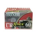 Maxell UR 60 - Cassette - 8 x 60min - Normal BIAS 109085