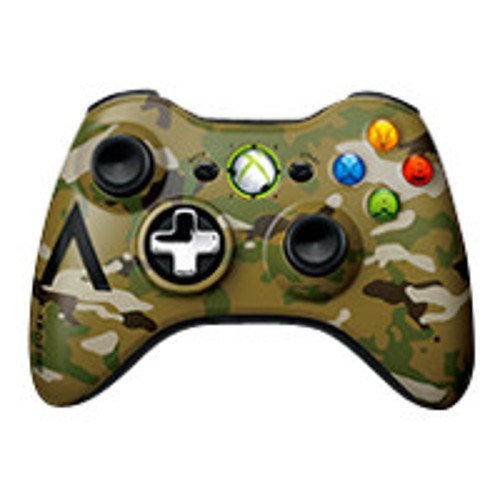Microsoft Xbox 360 Special Edition Camouflage Wireless Controller - game pad - wireless - 2.4 GHz