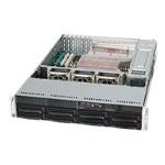 Supermicro SC825 TQ-R720LPB - Rack-mountable - 2U - extended ATX - SATA/SAS - hot-swap 720 Watt - black - USB/serial