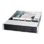 Supermicro SC826 A-R1200LPB - Rack-mountable - 2U - extended ATX - SATA/SAS - hot-swap 1200 Watt - black