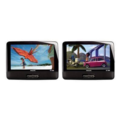 PhilipsPD9016P - two LCD monitors with built-in DVD player - display 9 in - external(PD9016P/37)