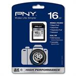 PNY 16GB High Performance Secure Digital High Capacity (SDHC) Class 10 Memory Card P-SDH16G10H-GE