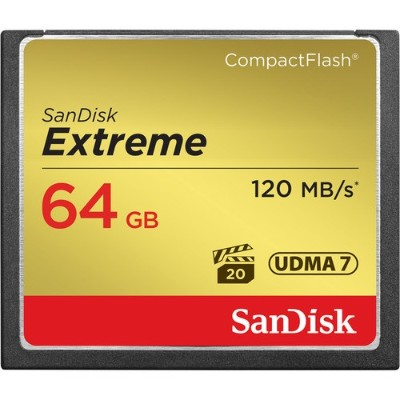Sandisk Extreme - flash memory card - 64 GB - CompactFlash (SDCFXS-064G-A46)