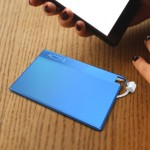 MOTA Power Card - 800mAh Charge Card with Micro USB for Smartphones - Blue MT-CC8B