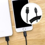 0.3 Meter (1 Foot) CoiledLightning Connector to USB Cable for iPhone, iPad & iPod - Apple Certified - Black