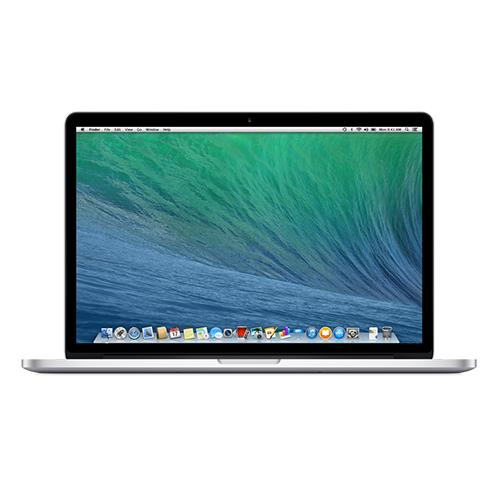 "Apple 15.4"" MacBook Pro with Retina display, quad-core Intel Core i7 2.6GHz (4th generation Haswell processor), 16GB RAM, 256GB PCIe-based  flash storage, Intel Iris Pro graphics, Two Thunderbolt 2 ports, 802.11ac Wi-Fi, 8 hour battery, Mac OS X Mavericks"