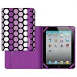 Passport-style Polka Folio Case for iPad Air - Purple
