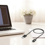 Lightning to USB Cable - Apple MFI Certified - Black - 3.3 Feet (1 Meter) - Sync & Charge iPhone, iPad and iPod