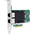 561T - Network adapter - PCIe 2.1 x8 - 10Gb Ethernet x 2 - for ProLiant DL20 Gen9, DL560 Gen9, ML110 Gen9, ML30 Gen9, XL170r Gen9, XL190r Gen9