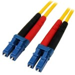 1m Fiber Optic Cable - Single-Mode Duplex 9/125 - LSZH - LC/LC - OS1 - LC to LC Fiber Patch Cable