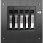 S-35-B5SL - Mini tower - mini ITX - SATA/SAS - hot-swap - no power supply ( FlexATX ) - black - USB