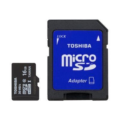 Toshibaflash memory card - 16 GB - microSDHC UHS-I(PFM016U-1DCK)