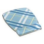 Gel Mouse Pad Wrist Rest, Designer Series Plaid 6.8 in x 8.6 in x .75 in