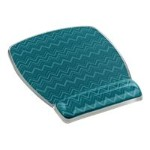 Gel Mouse Pad Wrist Rest, Designer Series Green 6.8 in x 8.6 in x .75 in