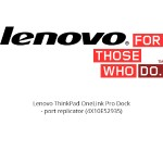 Lenovo ThinkPad OneLink Pro Dock - Port replicator - 90 Watt - for B50-70 80EU; E50-70 80JA; G50-80 Touch 80KR; ThinkPad E440; E540; ThinkPad Edge E431; E531; E550; ThinkPad S431; S440; S531; S540; S540 Touch; X1 Carbon 20A7, 20A8, 20BS, 20BT; ThinkPad Yoga 20C0 4X10E52935