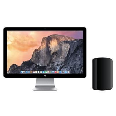 AppleMac Pro 8-Core Intel Xeon E5 3.0GHz, 12GB RAM, 1TB PCIe-based flash storage, Dual AMD FirePro D300, Mac OS X Mavericks(Z0PK-3.0-12-1TB-D300)