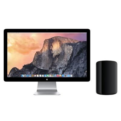 AppleMac Pro 8-Core Intel Xeon E5 3.0GHz, 16GB RAM, 512GB PCIe-based flash storage, Dual AMD FirePro D700, Mac OS X Yosemite(Z0PK-3.0-16-512-D700)