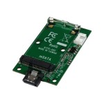 SATA to mSATA SSD Adapter - Port Mounted SATA to Mini SATA Drive Converter Card - 7-Pin SATA to mSATA Adapter Card