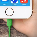 MIXIT Lightning to USB ChargeSync - Lightning cable - Lightning (M) to USB (M) - 4 ft - green - for Apple iPad/iPhone/iPod (Lightning)