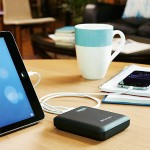 Dual USB Portable Power Pack - Power bank Li-Ion 12000 mAh - 2.1 A - 2 output connectors (USB (power only)) - on cable: Micro-USB