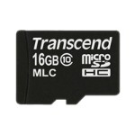 Transcend Flash memory card - 16 GB - Class 10 - microSDHC TS16GUSDC10M