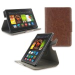 360 Rotating Dual-View Detachable Stand Case for Amazon Kindle Fire HDX 7 - Brown