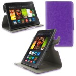 360 Rotating Dual-View Detachable Stand Case for Amazon Kindle Fire HDX 7 - Purple