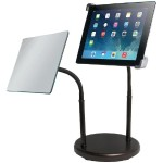 Universal Gooseneck Tabletop Stand with Mirror for iPad & Tablets