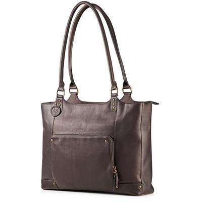 HPLadies Brown Leather Tote(F3W12AA)