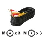 Video / audio cable - composite video / audio - RCA (M) to RCA (M) - 50 ft - shielded - ( RG-59 ) - black ( pack of 5 )