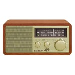FM / AM Analog Wooden Cabinet Receiver - Gold