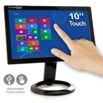 "t DS-10UT - LCD monitor - 10.1"" (10.1"" viewable) - touchscreen - 1024 x 600 - 200 cd/m² - 500:1 - 16 ms - USB - black"