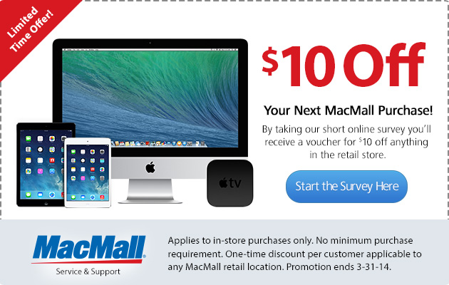 Exclusive MacMall Retail Coupons
