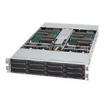 Super Micro Supermicro SC827 T-R1200B - Rack-mountable - 2U - up to 4 blades - SATA/SAS - hot-swap 1200 Watt - black CSE-827T-R1200B