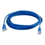 Cables To Go Cat5e Snagless Unshielded (UTP) Slim Network Patch Cable - Patch cable - RJ-45 (M) to RJ-45 (M) - 3 ft - UTP - CAT 5e - molded, snagless - blue 01022