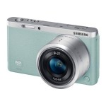 Samsung Electronics SMART Camera NX mini - Digital camera - High Definition - mirrorless system - 20.5 MP NX-M 9mm and 9-27mm lenses - Wi-Fi, NFC - mint - with  SEF7A Flash EV-NXF1ZZB4KUS