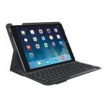 Logitech Type+ - Keyboard and folio case - Bluetooth carbon black case - for Apple iPad Air 920-006909