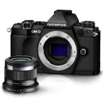 Olympus OM-D E-M5 Mark II Mirrorless Digital Camera Body (Black) and M. Zuiko Digital ED 45mm f/1.8 Lens (Black) V207040BU000