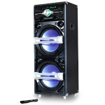 "Supersonic 2 x 15"" Bluetooth Professional DJ Speaker with Multi-color LED Accent Lighting IQ-3715DJBT"